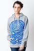 Hoodie Awara Sacred Symbols in Blue