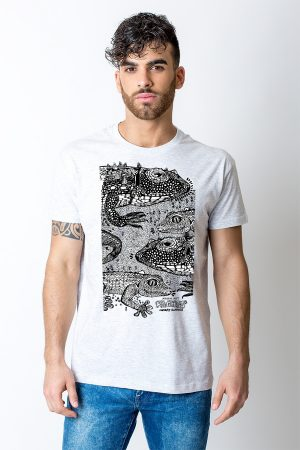 Lizard tshirt white