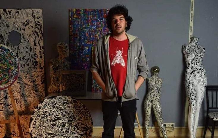 Yeyo Riancho en su estudio